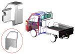 minicab_truck 3D cabin door