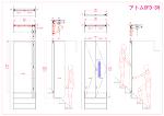 階段場に遮音の為の折れ戸を(アトムOFD-3N)取付、軌跡図有