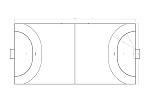 ハンドボールのコート図