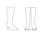 女性用ブーツ(DXF)