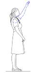 女性(横向き)