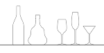 グラス・ボトル(DXF)