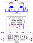 リニア新幹線+在来鉄道+道路併用高架