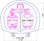 青函トンネル断面.jww