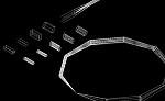2.5D 四角管と円管