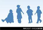 人物CADデータ(子供3点)