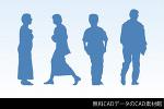 人物CADデータ(男性、女性)