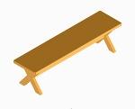 食卓テーブル用長椅子