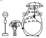 傘をさした妖怪