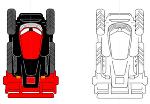 トラクター平面イメージ図