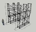 枠組足場拡幅枠W600~W900(簡易版)