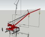 ジブクレーン E−16(カラー赤) 日立建機