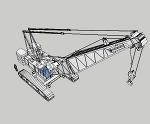 クローラークレーン KH850-3(トップ・ベースブーム)&