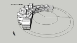 15tトラック(後2軸)軌跡図