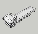 UD 4軸低床 平ボディ