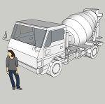 生コン車2t(簡易版)
