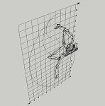 SK135SR回転フォーク仕様(作業姿勢図)テンプレート