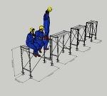 枠組足場調整枠W600×H1500(簡易版)