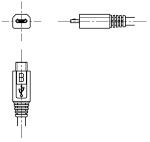 USBコネクタ(micro-b)オス